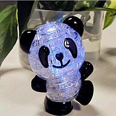 DIY 3d plast krystal panda puslespil med flash