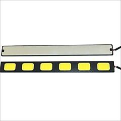 cheap Daytime Running Lights-Carking Waterproof Aluminum 6-COB LED 9.6W White DRL Driving Daytime Running Light Lamp(2PCS)