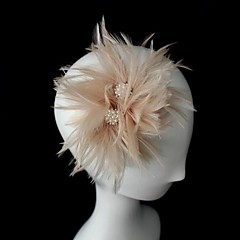 cheap Party Headpieces-Women's Leather Headpiece-Wedding Special Occasion Fascinators