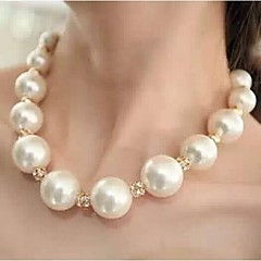 Women's Choker Necklaces Pearl Necklace Ball Pearl Rhinestone Alloy Costume Jewelry Statement Jewelry Luxury Jewelry For Wedding Party