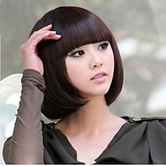 billiga Peruker och hårförlängning-Syntetiska peruker Rak Syntetiskt hår Peruk Dam Utan lock Blond