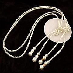 女性 ストランドネックレス クロス 真珠 人造真珠 ファッション コスチュームジュエリー ジュエリー 用途 結婚式 パーティー 誕生日 日常 カジュアル