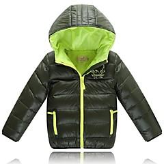 tanie Odzież dla chłopców-Odzież puchowa / pikowana-Chłopca-Zima-Jendolity kolor-Poliester