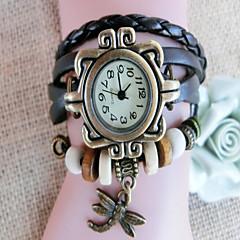 baratos Relógios-Mulheres Quartzo Relógio de Moda Relógio Casual Chinês Mostrador Grande Azulejo Outro Banda Vintage