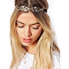 Vintage Gold Leaf Crystal hiuspanta panta pään ketjun hiukset korut hiukset accessires pää korut