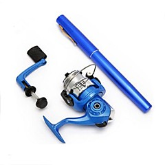 Meiyu ® Pocket Pen FRP Fishing Rod Pole Reel Combos With HIG2000  Reel hook keeper 50m lines lures 1.4m H2