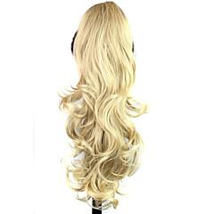 Χαμηλού Κόστους Αλογοουρές-Αλογορουρές Συνθετικά μαλλιά Κομμάτι μαλλιών Hair Extension Σγουρά / Βαθύ Κύμα Καθημερινά / Ξανθό