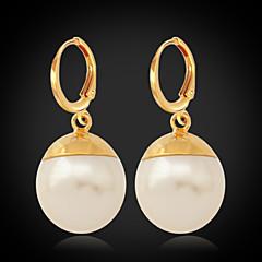 Náušnice pecky Dámské Slitina / Á Silver / Napodobenina perel Náušnice Imitace perly