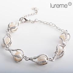 gota de água feminina em forma de pérola pulseira presentes de natal estilo elegante