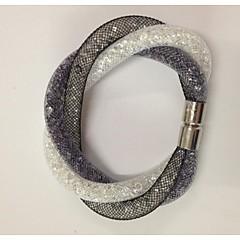 Magnetický hvězdicový sponový křišťál v sítových náramcích vánoční dárky
