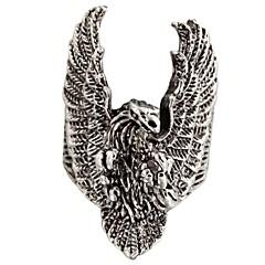 billige Motering-Dame Statement Ring - Titanium Stål Mote 8 Sølv Til Daglig Avslappet