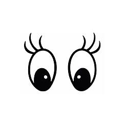 série mickey padrão de olho pvc decoração adesivo para carro e outros - para montagem