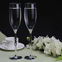 cheap Toasting Flutes-Personalized Toasting Flutes The Bride and Groom(Set of 2) Wedding Reception