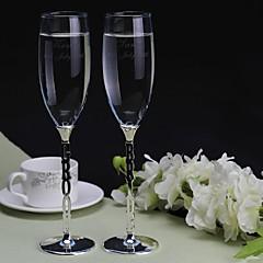 brindar personalizado flautas a noiva eo noivo (conjunto de 2)