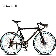 כביש אופניים רכיבת אופניים 7 מהיר 700CC/26 אינץ' 60mm יוניסקס / גברים / נשים SHIMANO TX30 דיסק בלימה כפול רגיל קונכי רגיל סגסוגת אלומיניום