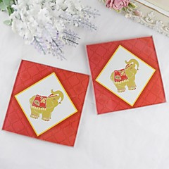 Elephant Coaster(2pcs/set) Coaster Favors Wedding Party Chic & Modern