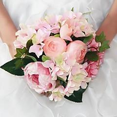 """Esküvői virágok Kör Bazsarózsák Csokrok Esküvő Selyem 9,45"""" (Kb. 24 cm)"""
