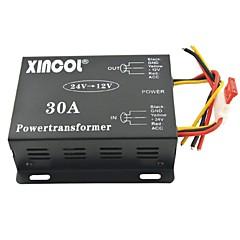저렴한 -xincol® 차량 자동차 직류 12V의 30A 전원 공급 장치 변압기에 24V 컨버터 블랙
