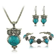 Conjunto de jóias Mulheres Aniversário / Casamento / Noivado / Presente / Diário / Ocasião Especial Conjuntos de Joalharia Liga Turquesa