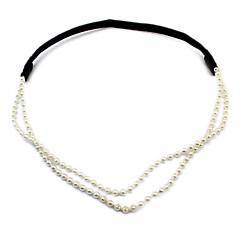 billige Hår Smykker-Dame Elegant Hårbånd - Imiteret Perle Blomst