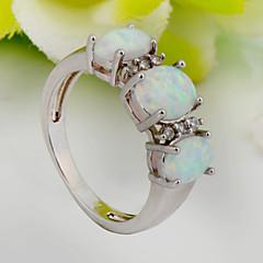 billige Motering-Dame Statement Ring - Zirkonium, Kubisk Zirkonium, Fuskediamant Mote 6 / 7 / 8 Hvit Til Bryllup / Fest / Daglig / Diamant