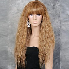 cheap Wigs & Hair Pieces-fashion girl natural golden small wave of high quality synthetic hair