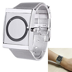 cheap Men's Watches-Men's Quartz Wrist Watch Casual Watch Stainless Steel Band Unique Creative Watch Elegant Silver
