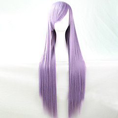 cheap Wigs & Hair Pieces-Synthetic Wig Women's Straight Purple Asymmetrical Synthetic Hair 28 inch Natural Hairline Purple Wig Long Capless Mauve