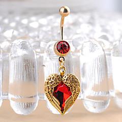 tanie Piercing-Pierścień pępka / piercing brzucha - Stal nierdzewna Serce, Miłość Unikalny, Modny Damskie Złoty Biżuteria Na Prezenty bożonarodzeniowe / Codzienny
