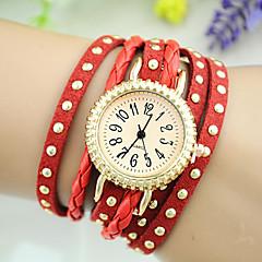 baratos Relógios-Mulheres Relógio de Moda Chinês Azulejo Outro Banda Bracelete Relógio Preta Branco Azul Vermelho Marrom Rosa Rose