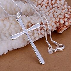 Dames Hangertjes ketting Sterling zilver Kruisvorm Sieraden Bruiloft Feest Dagelijks Causaal 1 stuks