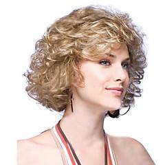 tanie Peruki syntetyczne-Kobieta Peruki syntetyczne Krótki Golden czarna peruka Halloween Wig Karnawałowa Wig Costume Peruki