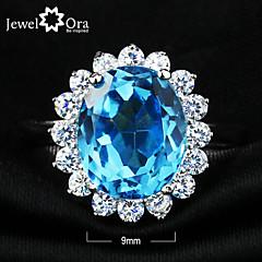 Anéis,Prata de Lei Zircônia cúbica Jóias Prata de Lei Anéis Statement