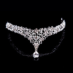 cheap Party Headpieces-Women Alloy Forehead Jewelry With Rhinestone Wedding/Party Headpiece