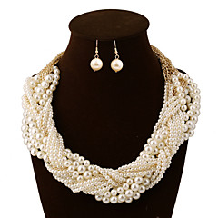 cheap Jewelry Sets-Women's Jewelry Set Statement Necklaces Vintage Party Work Casual Statement Jewelry Bridal European Multi Layer Wedding Party Special