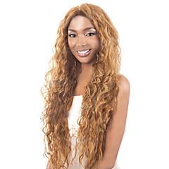 tanie Peruki syntetyczne-Kobieta Peruki syntetyczne Długo Golden Brown With Blonde Karnawałowa Wig Halloween Wig Costume Peruki