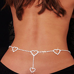 Women's Body Jewelry Belly Chain Body Chain Unique Design Love Fashion Sexy Costume Jewelry Rhinestone Imitation Diamond Heart Jewelry