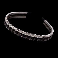 cheap Party Headpieces-Women Imitation Pearl Headbands With Rhinestone Wedding/Party Headpiece