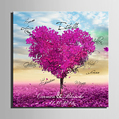 cheap Guest Book & Pen Sets-E-HOME® Personalized Signature Canvas Frame-Purple Love Tree