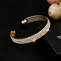 baratos -Mulheres Bracelete Pulseiras Algema Tênis Pulseiras Cristal Imitações de Diamante Liga Jóias Casamento Festa Diário Casual Jóias de