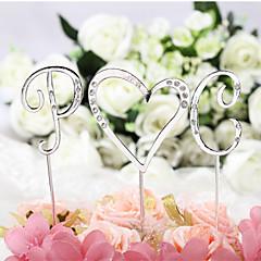 billige Kakedekorasjoner-Kakepynt Klassisk Tema Monogram Chrome Bryllup / jubileum / Bursdag med Rhinsten 1 pcs OPP