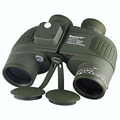 cheap Binoculars, Monoculars & Telescopes-Boshile 10X50 Binoculars Waterproof Roof Prism Night Vision in Low Light BAK4 Telescope with Rangefinder Compass Army Green Fully Multi-coated