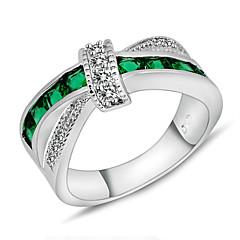 billige Motering-Dame Statement Ring - Zirkonium Mote 6 / 7 / 8 Grønn Til Bryllup / Fest / Daglig / Diamant