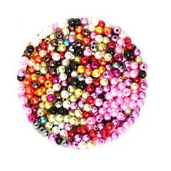 baratos Miçangas & Fabricação de Bijuterias-Jóias DIY 2000 pçs Contas Plástico Redonda Forma redonda Bead 0.4 cm faça você mesmo Colar Pulseiras
