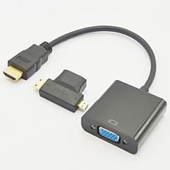 ミニHDMIオスへとマイクロHDMIオスアダプタ+ HDMI V1.3へのVGA M / Fケーブルに3イン1のHDMIメス