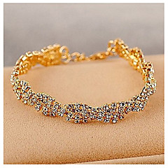 cheap Bracelets-Women's - Chain Gold Silver Bracelet For Wedding Party Special Occasion