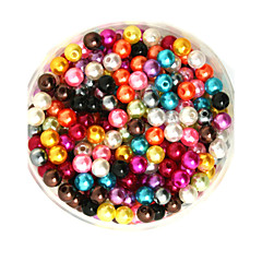 Beadia 100g(Approx 1000Pcs)  ABS Pearl Beads 6mm Round Mixed Color Plastic Loose Beads For DIY Jewelry Making