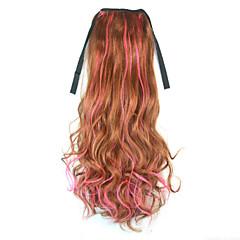 billiga Peruker och hårförlängning-Hårförlängning med mikroring Vågigt Syntetiskt hår Hårstycke HÅRFÖRLÄNGNING Regnbåge