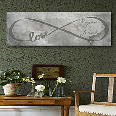 E-HOME® Personalized Signature Canvas Frame-LOVE letter distortion