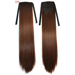 cheap Wigs & Hair Pieces-Straight Synthetic Hair Piece Hair Extension 18 inch #10